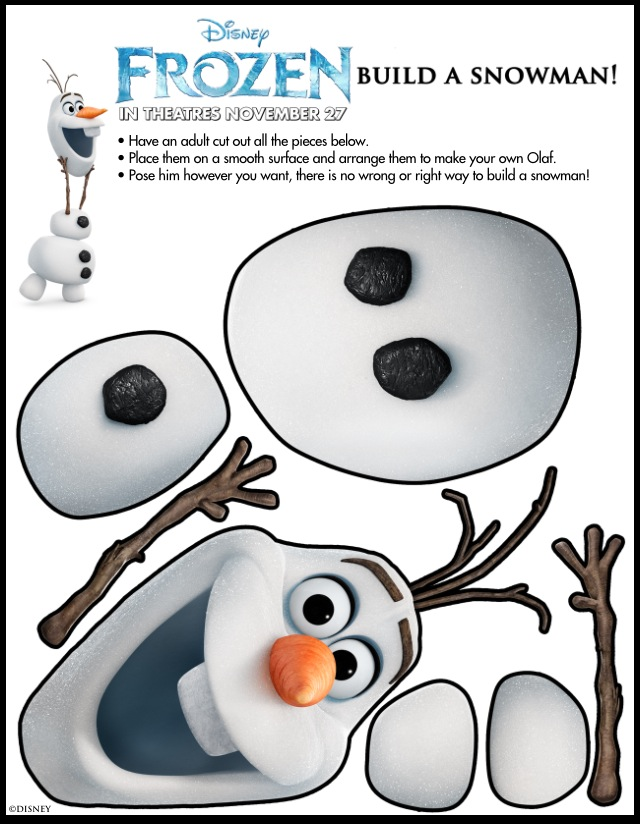 Frozen Olaf Activity Sheet