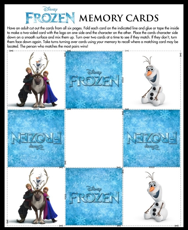 Frozen Match Activity Sheet