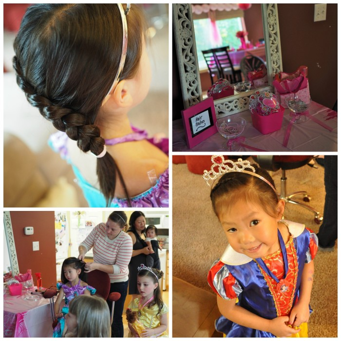 Princess Hair Salon Collage