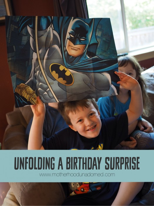 Unfolding a Birthday Surprise Kids Poster Cards