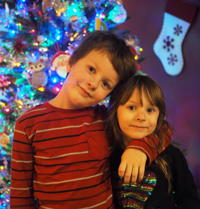 kids excited about the holidays