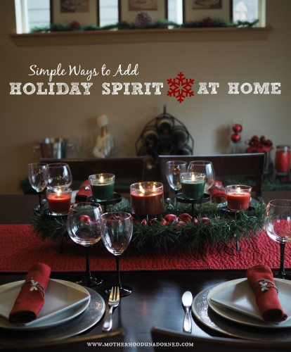 Simple Ways to Add Holiday Spirit at Home #SmellsClean #ad