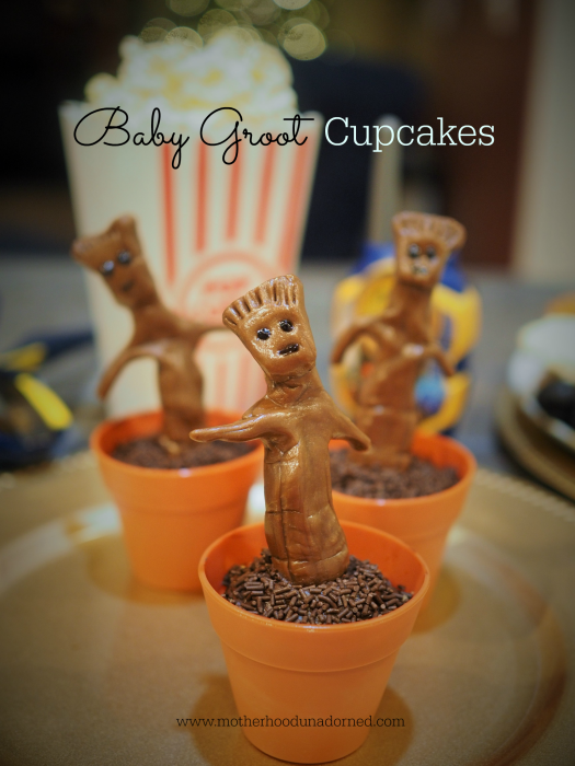 Baby Groot Cupcakes Guardians of the Galaxy #OwntheGalaxy #ad