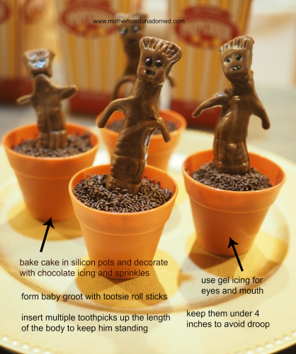 Baby Groot Cupcakes Instructions Guardians of the Galaxy #OwntheGalaxy #ad