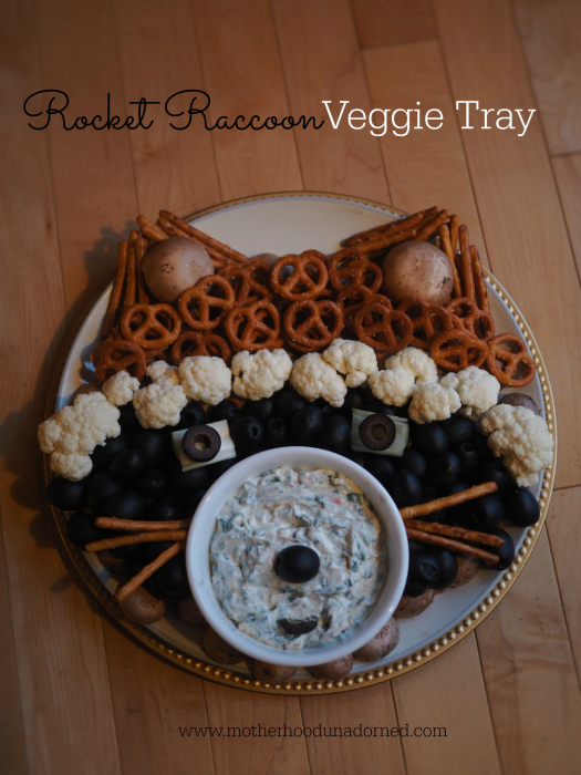 Rocket Raccoon Guardians of the Galaxy Veggie Tray #OwntheGalaxy #ad