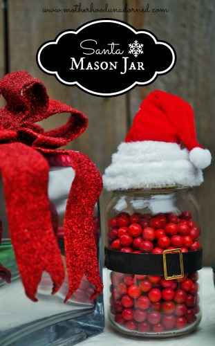 Santa Mason Jar Craft and Gift Idea