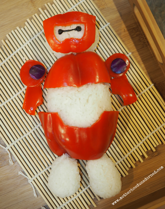 Baymax Rice Ball Tutorial 1 #BigHero6Release #ad