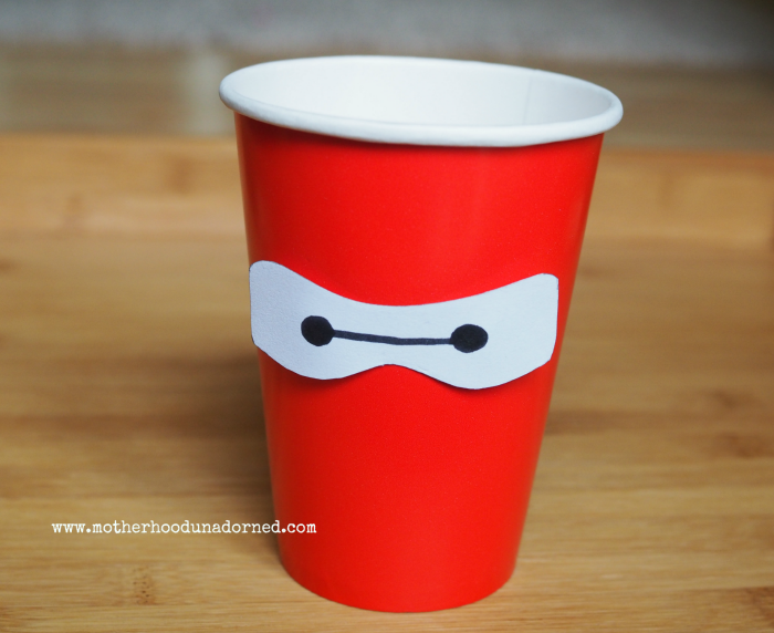 Big Hero 6 Baymax Party Cup for drinks snack or favors