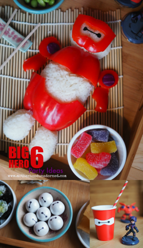 Inspired by Big Hero 6Baymax Rice Ball and other party ideas #BigHero6Release #ad
