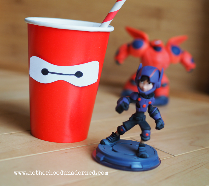 Big Hero 6 Baymax Party Cup Tutorial #BigHero6Release #ad