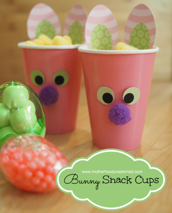 Bunny Snack Cups with Free Printable