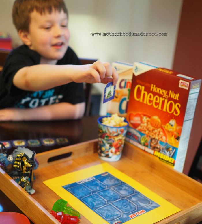 Checking out the Skystones cards found in marked Big G cereal boxes #upyourbreakfastgame #ad