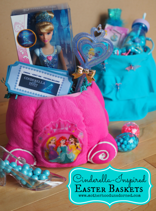 Cinderella Inspired Easter Baskets including DIY New Sew Multipurpose Basket and Printable #DisneyEaster #ad