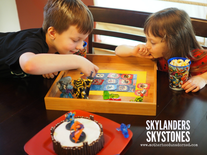 Family Game Day Party Ideas Skylanders Skystones card game and Skylanders inspired portal cake #ad