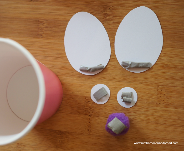 How to make bunny snack cup
