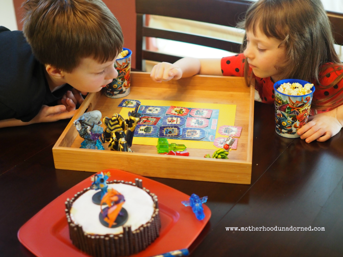 Skylanders Inspired Party Portal Cake and Games