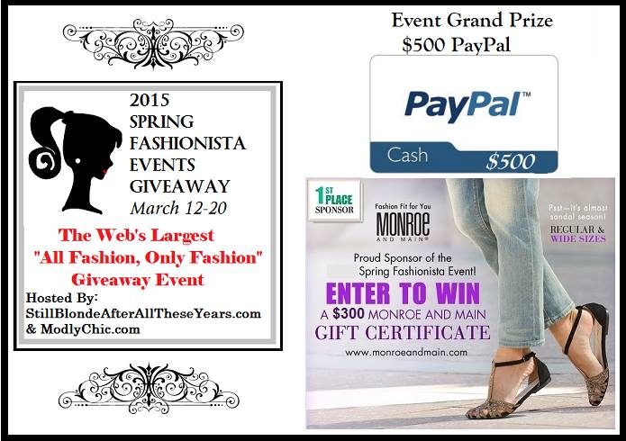 Spring Fashionista Giveaway Grand Prizes #Fashionista Events