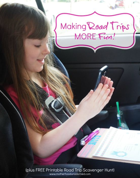 Making Road Trips More Fun Plus Free Printable Road Trip Scavenger Hunt #mydatamyway #ad