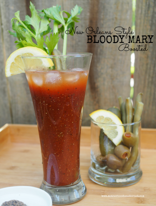 New Orleans Style Bloody Mary Boosted with V8 Energy #V8EnergyBoost #ad