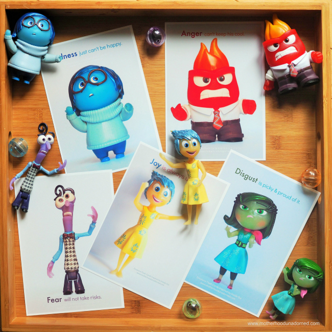 Free Printable Feelings Flash Cards inspired by Inside Out for talking to kids about emotions #PlayNGrow AD