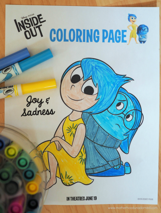 Inside Out Coloring Page and Other Free Printable Kids Activities