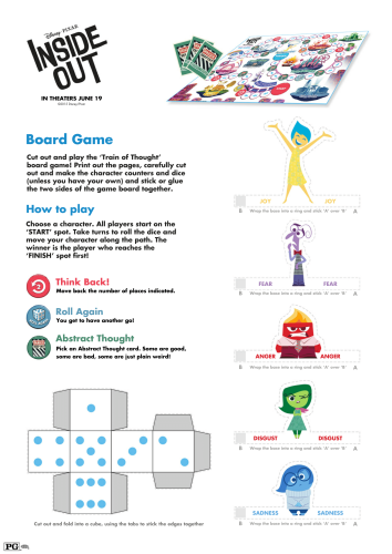Inside Out Printable Board Game-1