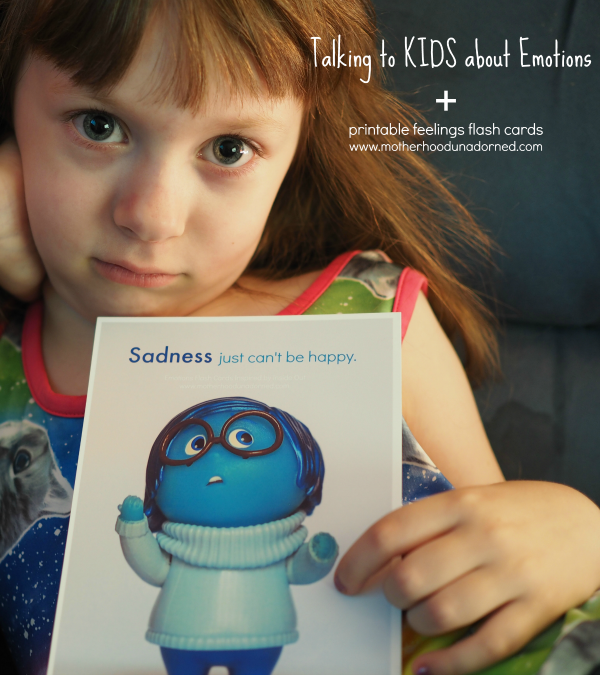 Talking To Kids About Emotions Inside Out Printable