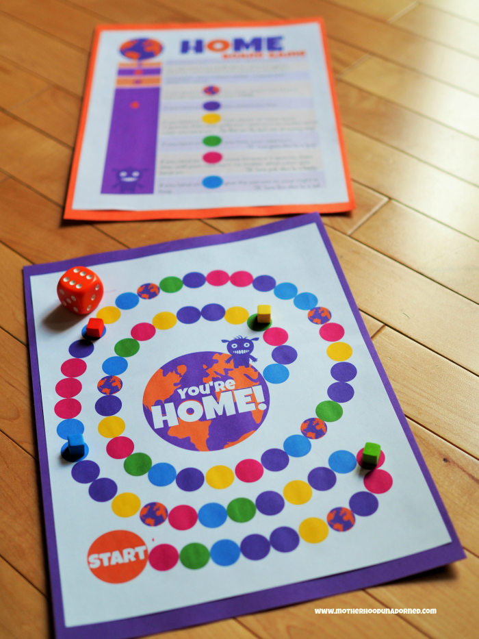Printable Board Game Inspired by Home The Movie DreamWorks
