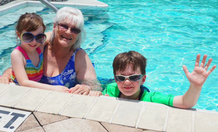 Swimming with Grandma in Florida
