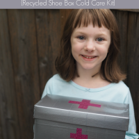 Preparing for Back to School Cold Season {Recycled Shoe Box Cold Care Kit}