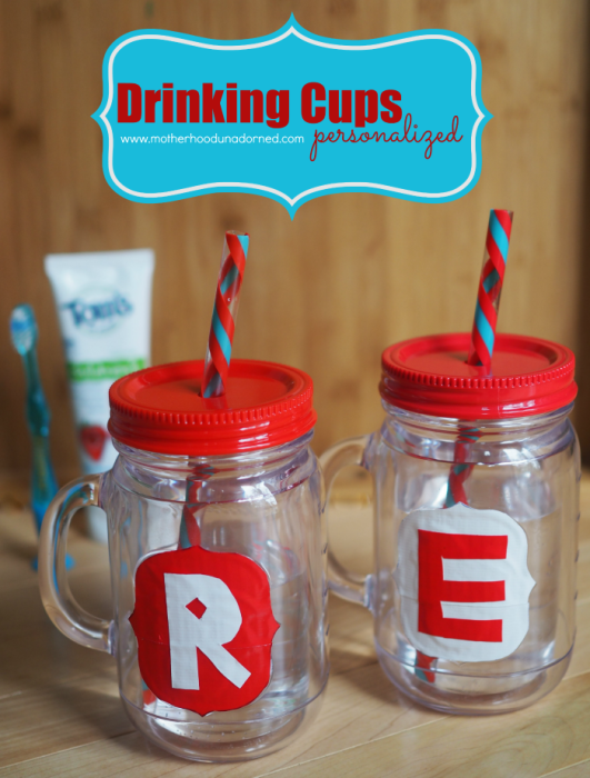 DIY Personalized Drinking Cups with Duct Tape #NaturalGoodness AD