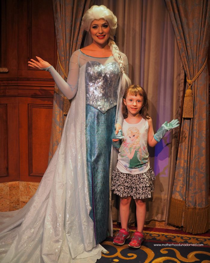 Ellie and Elsa with Ice Powers at Disney World