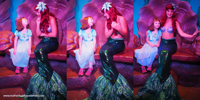 Ellie meets Ariel Disney World