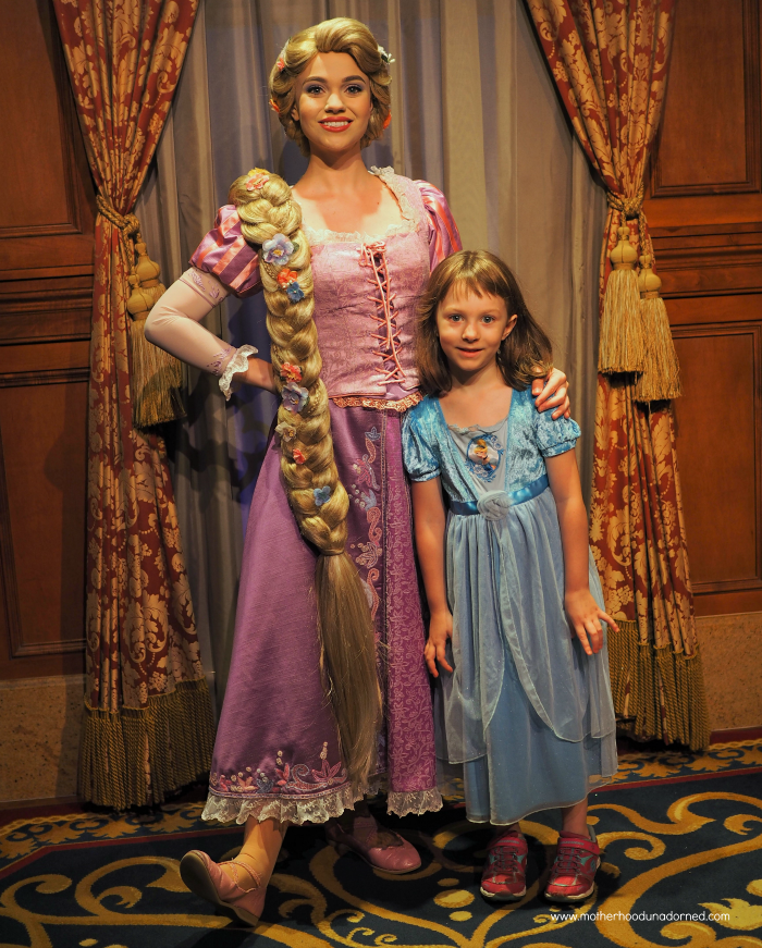 Ellie meets Rapunzel at Disney World