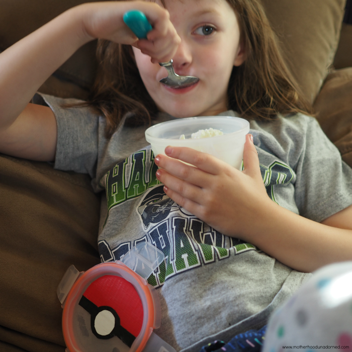 Ellie with cottage cheese Pokeball