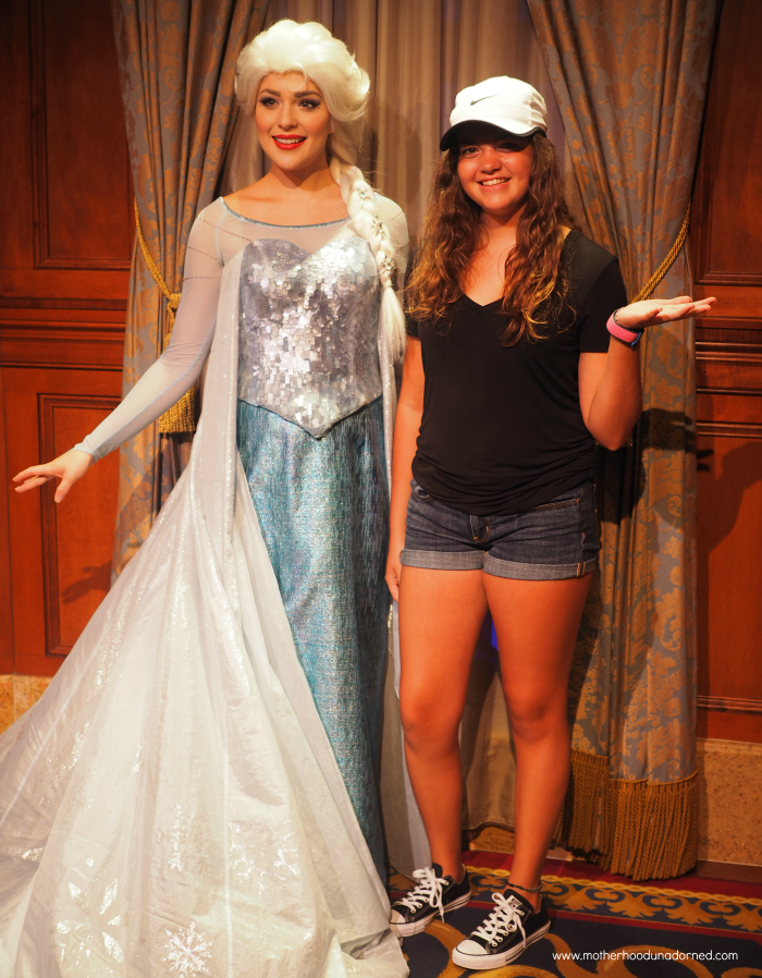 Elsa and Grace at Disney World