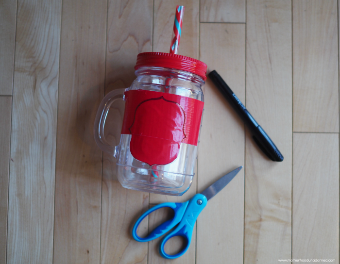 How to personal plastic mason jar mug