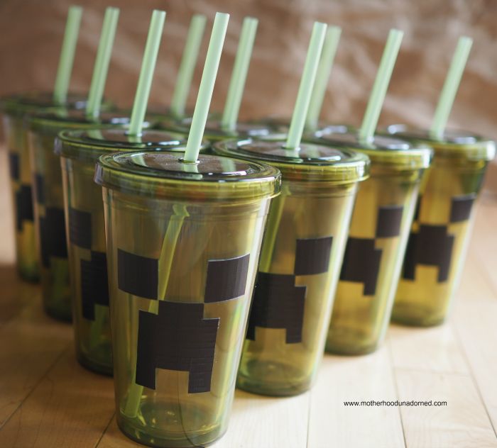 MInecraft creeper party cups