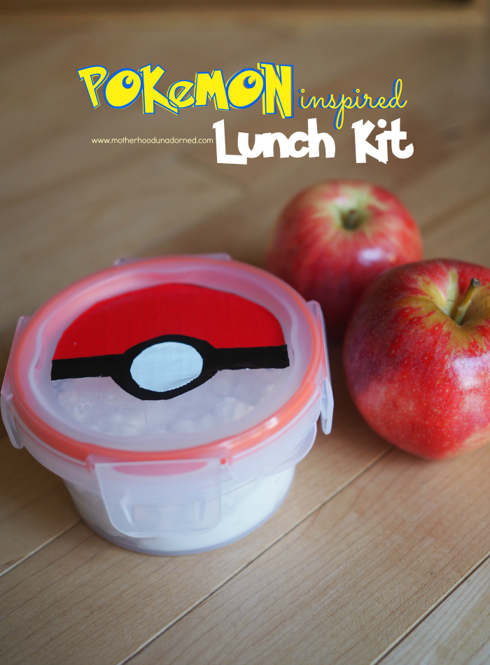 Pokemon inspired Pokeball DIY duct tape lunch kit #SnapwareBTS #ad