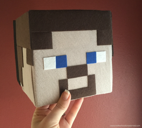 DIY Mincraft Steve Box Head Hat