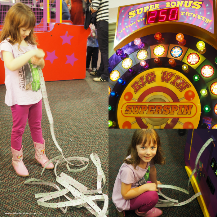 Ellie at Chuck E Cheese