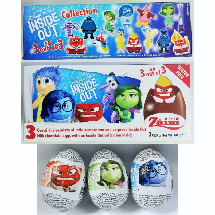 Inside Out Surprise Chocolate eggs