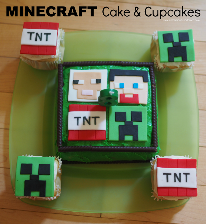Minecraft Cake And Cupcakes Designs