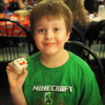 Happy 8th Birthday Ronin! { Minecraft Party Ideas: Cake, Cupcakes, Party Favors }