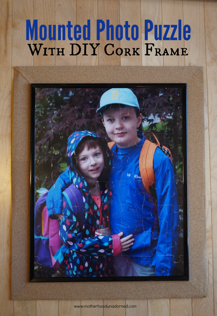 16 x 20 Photo Puzze with DIY Frame