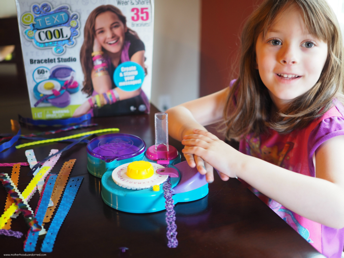 Ellie pushing Text Cool Bracelet Maker