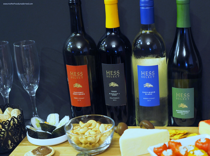 Hess Collection Wines with food pairings