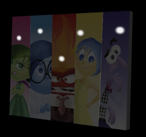 Inside Out Canvas Wall Art with LED lights