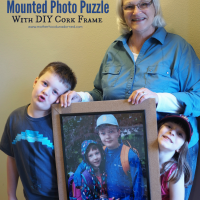 Photo Gift Ideas {Mounted Photo Puzzle with DIY Cork Frame}