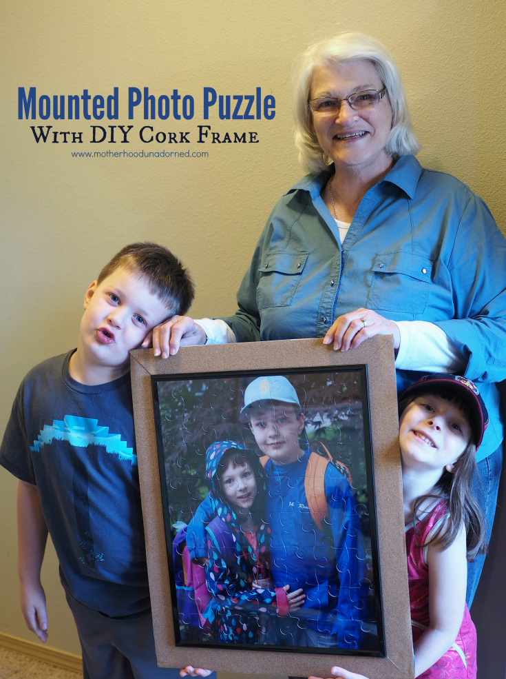 Mounted Photo Puzzle with DIY Cork Frame Tutorial